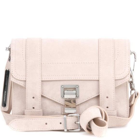 Proenza Schouler Handbags - Proenza Schouler PS1 Mini Crossbody Suede Beige